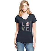 '47 Women's New York Yankees Club Navy V-Neck T-Shirt