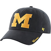'47 Women's Michigan Wolverines Blue Clean Up Sparkle Adjustable Hat