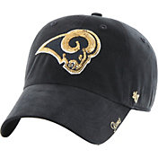 '47 Women's Los Angeles Rams Sparkle Logo Navy Adjustable Hat