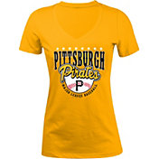 5th & Ocean Women's Pittsburgh Pirates Gold V-Neck T-Shirt