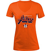 5th & Ocean Women's Houston Astros Orange V-Neck T-Shirt