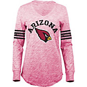5th & Ocean Women's Arizona Cardinals Space Dye Red Long Sleeve Shirt