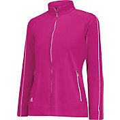 adidas Girls' Three-Stripe Piped Golf Jacket