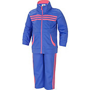 adidas Infant Girls' Tricot Jacket and Pants Set