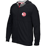 adidas Men's Atlanta Hawks Pre-Game Black Full-Zip Hoodie