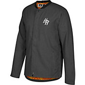 adidas Men's Houston Rockets On-Court Black Button Down Jacket
