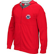 adidas Men's Washington Wizards Pre-Game Red Full-Zip Hoodie