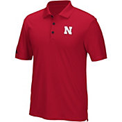 adidas Men's Nebraska Cornhuskers Red Performance Polo
