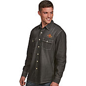 Antigua Men's Iowa State Cyclones Long Sleeve Button Up Chambray Shirt