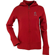 Antigua Women's Los Angeles Angels Signature Red Full-Zip Hoodie