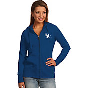 Antigua Women's Kentucky Wildcats Blue Full-Zip Hoodie