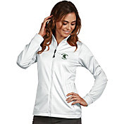 Antigua Women's Michigan State Spartans White Performance Golf Jacket
