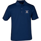 Antigua Youth Xavier Musketeers Blue X-tra Lite Pique Polo