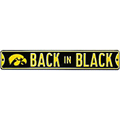 Authentic Street Signs Iowa Hawkeyes 'Back in Black' Street Sign