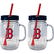 Boelter Boston Red Sox 20oz Handled Straw Tumbler 2-Pack