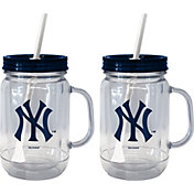 Boelter New York Yankees 20oz Handled Straw Tumbler 2-Pack