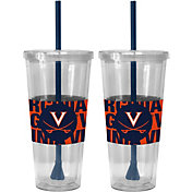 Boelter Virginia Cavaliers Bold Sleeved 22oz Straw Tumbler 2-Pack