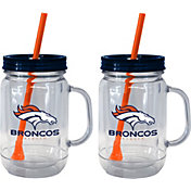 Boelter Denver Broncos 20oz Handled Straw Tumbler 2-Pack