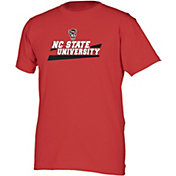 boxercraft Men's NC State Wolfpack Red Just for You Crew Wordmark and Logo T-Shirt