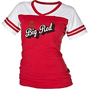 boxercraft Women's Cornell Big Red Powder Puff Red/White T-Shirt