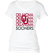 boxercraft Women's Oklahoma Sooners Perfect Fit V-Neck White T-Shirt