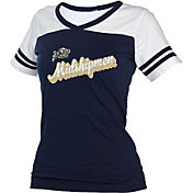 boxercraft Women's Navy Midshipmen Powder Puff Navy/White T-Shirt