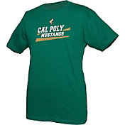boxercraft Youth Cal Poly Mustangs Green Just for You Crew Wordmark and Logo T-Shirt