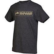 boxercraft Youth Navy Midshipmen Grey Just for You Crew Wordmark and Logo T-Shirt