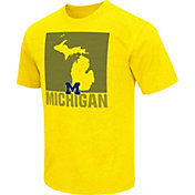 Colosseum Athletics Men's Michigan Wolverines Maize State of the Union T-Shirt