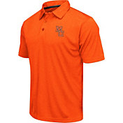 Colosseum Men's Mercer Bears Orange Heathered Performance Polo