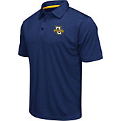 Colosseum Men's Marquette Golden Eagles Navy Heathered Performance Polo