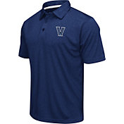 Colosseum Men's Villanova Wildcats Navy Heathered Performance Polo