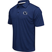 Colosseum Athletics Men's Penn State Nittany Lions Blue Heathered Performance Polo