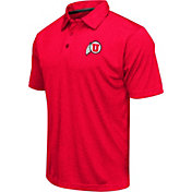 Colosseum Athletics Men's Utah Utes Crimson Heathered Performance Polo
