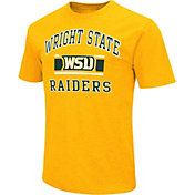 Colosseum Men's Wright State Raiders Gold Dual-Blend T-Shirt