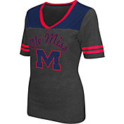 Colosseum Athletics Women's Ole Miss Rebels Grey Twist V-Neck T-Shirt
