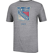 CCM Men's New York Rangers Logo Tri-Blend Grey T-Shirt