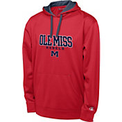 Champion Men's Ole Miss Rebels Red T-Formation Performance Hoodie