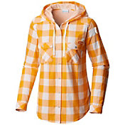 Columbia Women's Tennessee Volunteers Tennessee Orange Times Two Hooded Long Sleeve Shirt