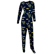 Concepts Sport Women's West Virginia Mountaineers Blue Onesie