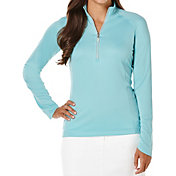 Callaway Women's OptiShield Quarter-Zip Mock Neck Golf Shirt