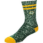 For Bare Feet Green Bay Packers Alpine Socks