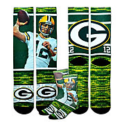 For Bare Feet Youth Green Bay Packers Aaron Rodgers Rush Socks
