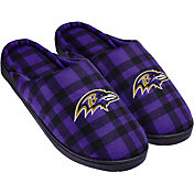 Forever Collectibles Baltimore Ravens Flannel Cup Sole Slippers