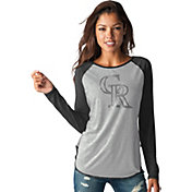 Touch by Alyssa Milano Women's Colorado Rockies Grey/BlackLong Sleeve Shirt