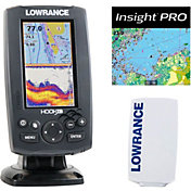 Lowrance Hook-4 GPS Fish Finder Combo with Lake Insight and Sun Cover