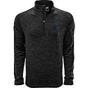 Levelwear Men's Rice Owls Grey Armour Quarter-Zip Shirt
