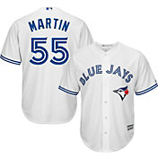 Majestic Men's Replica Toronto Blue Jays Russell Martin #55 Cool Base Home White Jersey