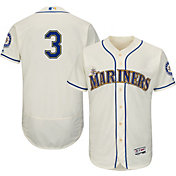 Majestic Men's Authentic Seattle Mariners Mike Zunino #3 Alternate Ivory Flex Base On-Field Jersey