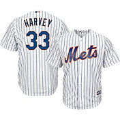 Majestic Men's Replica New York Mets Matt Harvey #33 Cool Base Home White Jersey